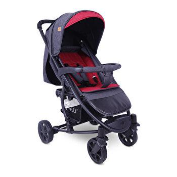 Carucior pentru nou-nascut, S 300, Black & Red