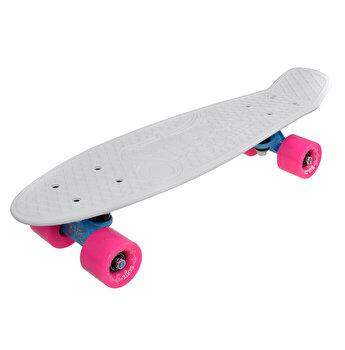 Skate Penny SLV Neon 22 inch, alb-roz