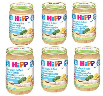 Pachet 6 x taitei cu este de mare in broccoli cremos, HiPP, 220g