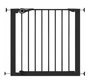 Poarta de siguranta Noma Easy Fit, presiune, 75-82 cm, metal negru, N94313