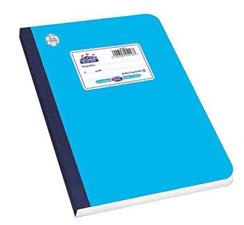 Caiet A5 Skag Flexbook, 60 file, dictando, bleu