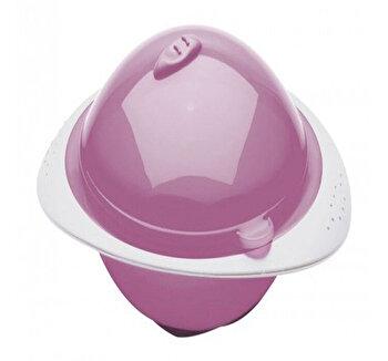 Castron cu capac pentru microunde Orchid pink