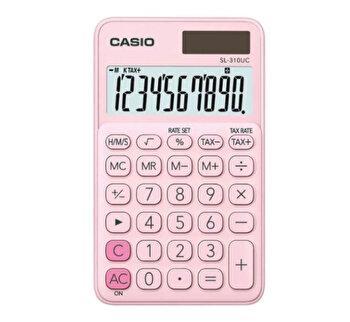 Calculator de birou Casio SL-310UC, 10 digits, roz