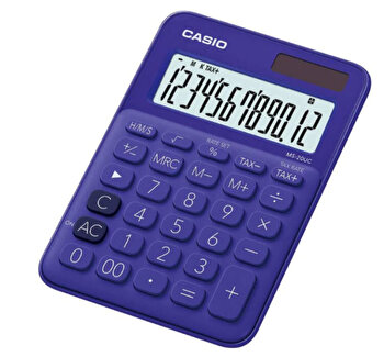 Calculator de birou Casio MS-20UC, 12 digits, violet