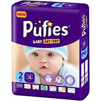 Scutece Pufies Baby Art 2 Mini Maxi Pack, 74 buc