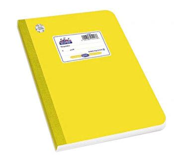 Caiet A4 Skag Flexbook, 60 file, dictando, galben