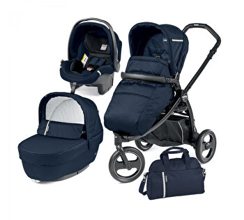 Carucior 3 in 1, Peg Perego, Book Scout Matt Black Class, Class Navy