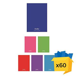 Set 60 caiete Notte School, A4, dictando, 40 file