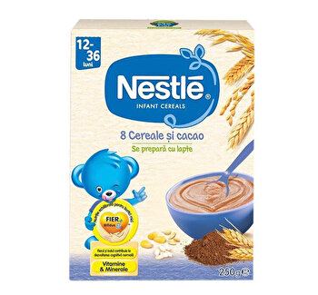 Cereale Nestle - 8 cereale si cacao 250g