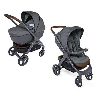 Carucior copii Chicco Duo Style Go Up Crossover, Cool Grey, gri, 0luni+