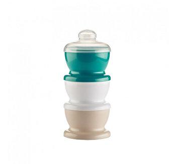 Recipient 3 compartimente lapte praf/ mancarica - Smarald