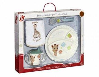 Set pentru masa Girafa Sophie baloane, cutie cadou