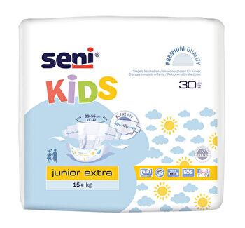 Scutece cu sistem inchis, Seni Kids Junior extra, 30 buc