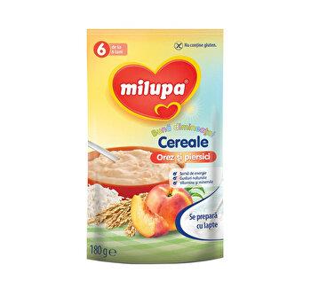 Milupa Buna dimineata cereale (fara lapte) Orez si Piersici 180g