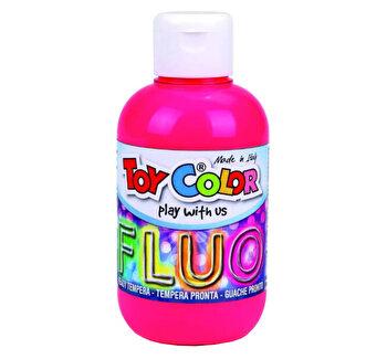 Tempera neon Toy Color, 250 ml, roz
