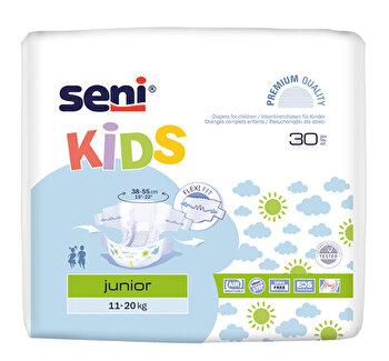 Scutece cu sistem inchis, Seni Kids Junior, 30 buc