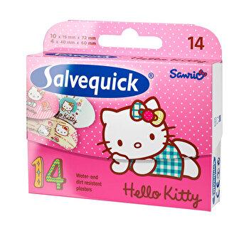 Plasturi pentru copii Hello kitty, SalvequiCk, 14 Plasturi, 2 dimensiuni