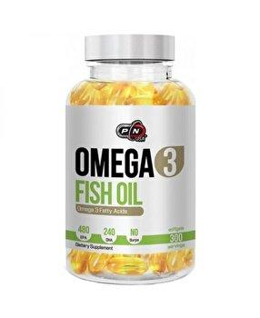 Pure Nutrition USA Omega 3, 1200mg, 300 capsule, Ulei de peste 480 EPA / 240 DHA de la Pure Nutrition USA