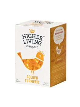 Ceai golden turmeric Higher Living bio 15 dz, 30g