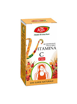 Vitamina C naturala F164 60 comprimate masticabile