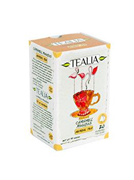 Ceai Tealia by Secom Caramel Rooibos 20 plicuri piramida x 2g de la Tealia by Secom