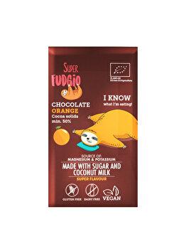 Ciocolata cu portocale Super Fudgio bio fara gluten, 80 g de la Me Gusto