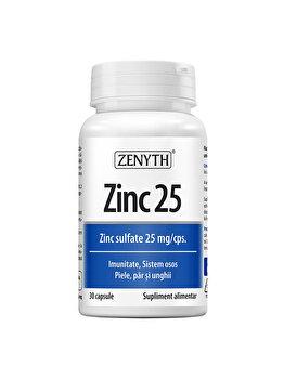 Supliment alimentar Zenyth Zinc 25mg 30 capsule de la Zenyth Pharmaceuticals