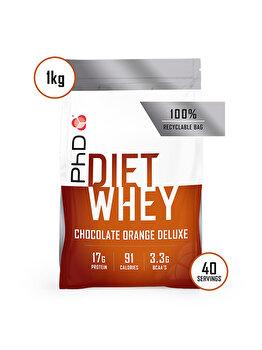 Amestec proteic PhD Diet Whey Chocolate Orange, 1 kg PhD
