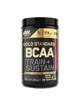 Aminoacizi Gold Standard Optimum Nutrition BCAA Train + Sustain Raspberry Pomegranate 266g de la Optimum Nutrition