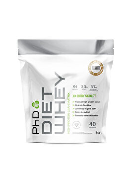 Amestec proteic PhD Diet Whey White Chocolate Deluxe, 1 kg PhD