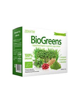 Supliment alimentar bio, pentru energizare și detoxifiere Zenyth BioGreens Cutie 28 plicuri x 4g de la Zenyth