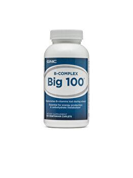Supliment Alimentar GNC B-Complex Big 100®, Complex de Vitamina B, 100 tb de la GNC