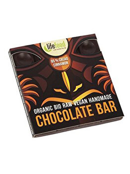 Ciocolata cu 95% cacao si scortisoara Lifefood raw bio fara gluten, 35 g de la Lifefood