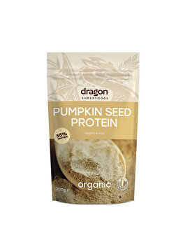 Proteina din seminte de dovleac Dragon Superfoods raw bio, 200 g Dragon Superfoods