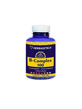 Supliment alimentar Herbagetica B Complex 100 60 capsule de la Herbagetica