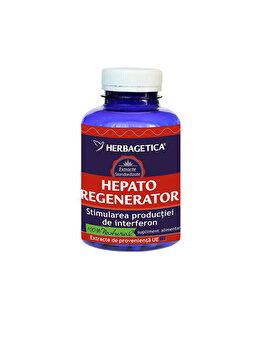 Supliment alimentar Herbagetica Hepato Regenerator 60 capsule de la Herbagetica