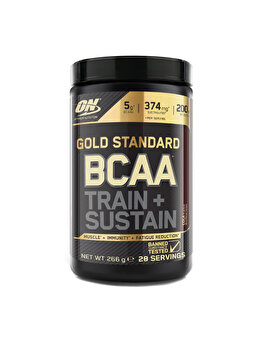 Aminoacizi Gold Standard Optimum Nutrition BCAA Train + Sustain Cola 266g de la Optimum Nutrition