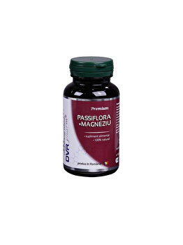 Supliment alimentar DVR Pharm Passiflora + Magneziu 60 capsule DVR Pharm