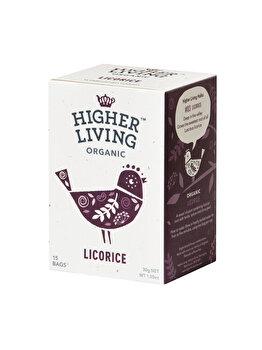 Ceai lemn dulce Higher Living bio 15 dz, 30 g de la Higher Living