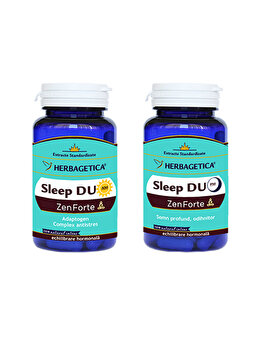 Supliment alimentar Herbagetica Sleep Duo AM/PM (120+120)