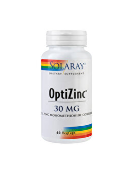 Supliment alimentar Solaray by Secom OptiZinc 30mg 60 capsule vegetale de la Solaray by Secom