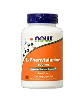 Now L-Phenylalanine 500mg 120 Capsule (L-Phenylalanine) Now Food