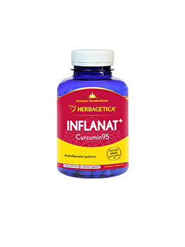 Supliment alimentar Herbagetica Inflanat + Curcumin 95 120 capsule de la Herbagetica