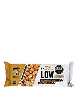 GoldNutrition Protein Bar Low Sugar Alune, 60 grame