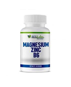 HS Labs Magneziu, Zinc, Vitamina B6, 90 Tablete HS Labs