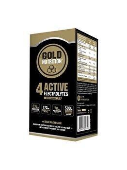 4 Active Electrolytes 10 plicuri de la GoldNutrition