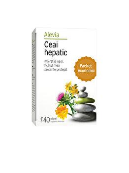 Ceai medicinal hepatic Alevia 40 plicuri poza