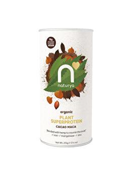 Pulbere proteica Superprotein Cacao Maca Organic, 210 g de la Naturya