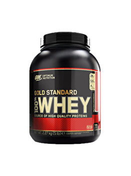 100% Proteina din zer Optimum Nutrition Whey Gold Standard Delicious Strawberry 2260g de la Optimum Nutrition