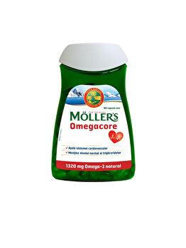 Capsule cu ulei de peste Moller's Omegacore Omega-3 natural sub forma de trigliceride 60 de capsule de la Moller's